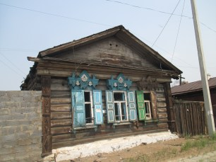 Wooden house in Ulan-Ude