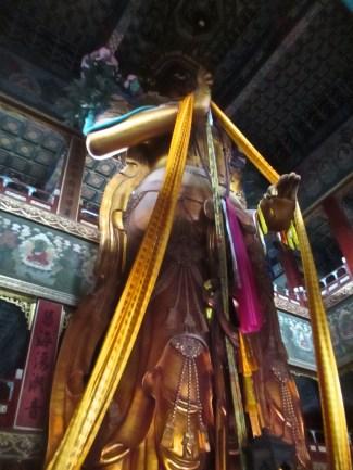 Massive Buddha statue, Yonghe Lama Temple