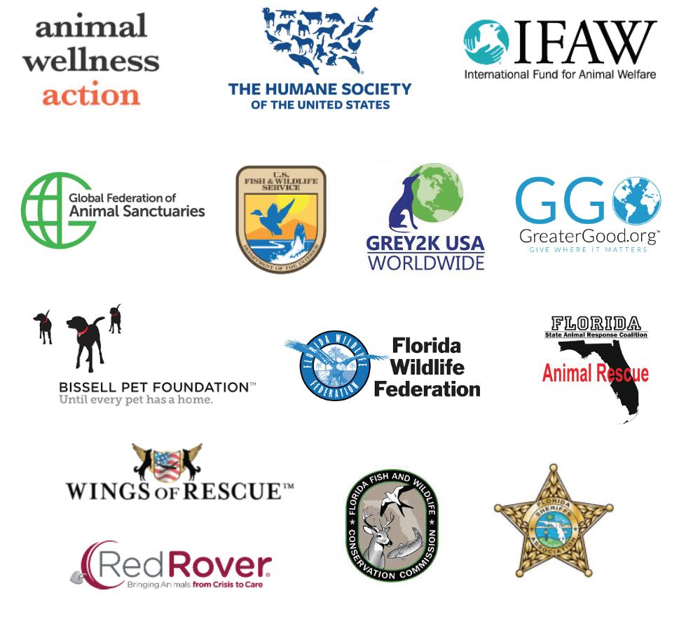 logos of the Partners of Alaqua Animal Refuge