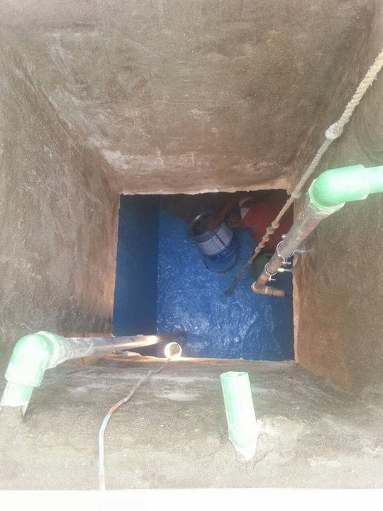 عزل الخزان العلوي من التسرب