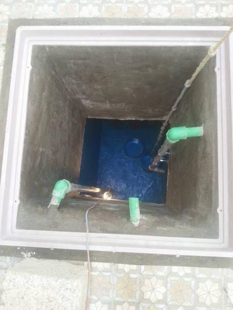 طريقة عزل خزان مياه الشرب الانتهاء نهائيا من مرحلة التجفييف ومعالجة تشققات وتصدعات الخزان
