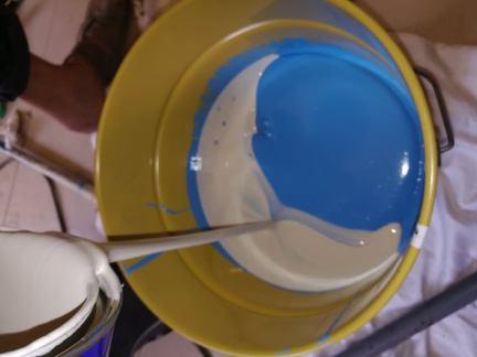 مواد عزل خزانات المياه الايبوكسي وهذا المادة مخصصه لعمل طبقة عازل كمادة منع تسربات المياه ولمنع تفاعل المياه واملاح المياه مع الخرسانة او لياسة الخزان الارضي
