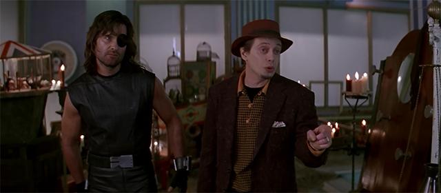 Kurt Russell et Steve Buscemi dans Los Angeles 2013 (1996)