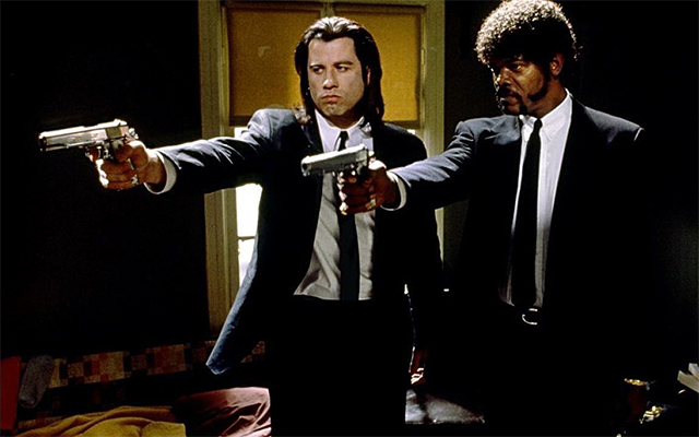 John Travolta et Samuel L. Jackson dans Pulp Fiction (1994)