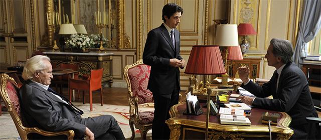 Niels Arestrup, Raphaël Personnaz et Thierry Lhermitte dans Quai d'Orsay (2013)