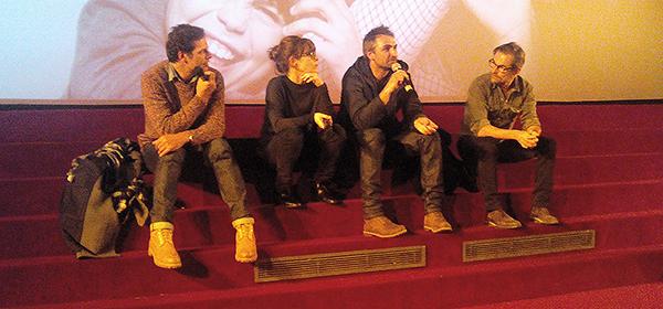 Laurent Lafitte, Marina Foïs, Martin Bourboulon et Matthieu Delaporte au Cézanne, Aix-en-Provence, le 9 janvier 2015