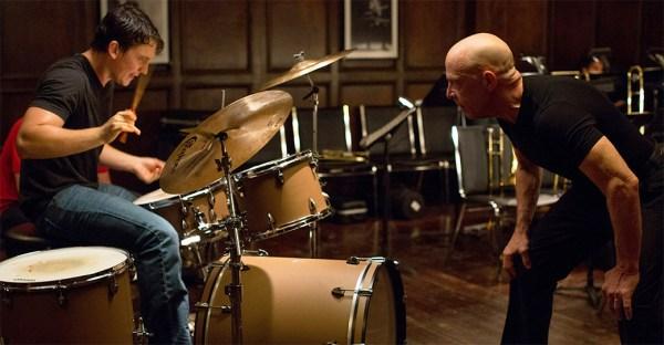 Miles Teller et J. K. Simmons dans Whiplash