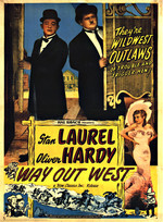 Affiche de Laurel et Hardy au Far West (1937)