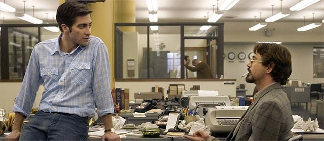 Jake Gyllenhaal et Robert Downey Jr dans Zodiac (2015)