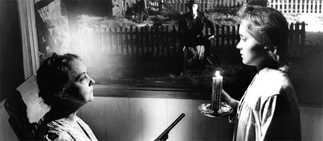 Lillian Gish et Gloria Castillo dans La Nuit du chasseur (1955)