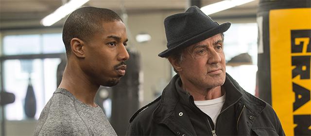 Michael B. Jordan et Sylvester Stallone dans Creed (2016)