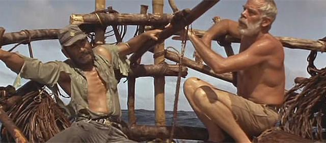 Toshiro Mifune et Lee Marvin dans Duel dans le Pacifique (1968)