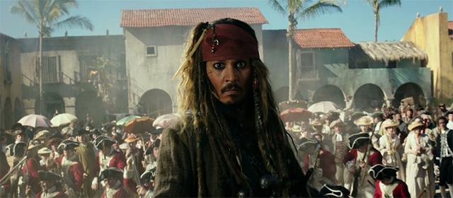 Johnny Depp dans Pirates des Caraïbes : La Vengeance de Salazar (2017)