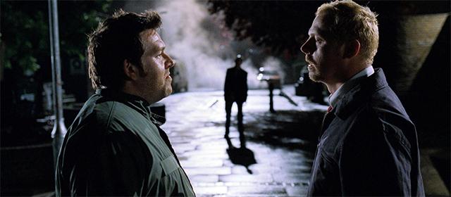 Nick Frost et Simon Pegg dans Shaun of the Dead (2004)