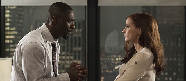 Idris Elba et Jessica Chastain dans Le Grand Jeu (2018)