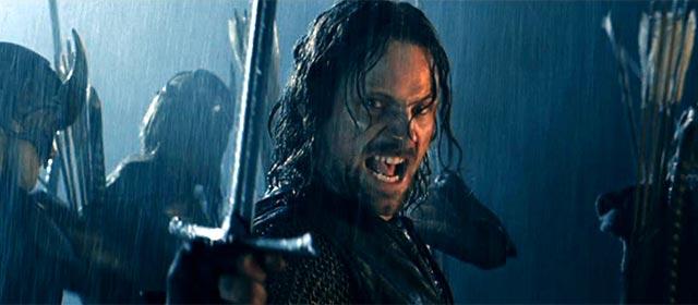 Viggo Mortensen dans Le Seigneur des Anneaux : Les Deux Tours (2002)
