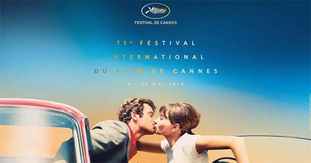 Festival de Cannes 2018 - Design: © Flore Maquin / Photo: Anna Karina and Jean-Paul Belmondo in Pierrot le fou © Georges Pierre — FESTIVAL DE CANNES