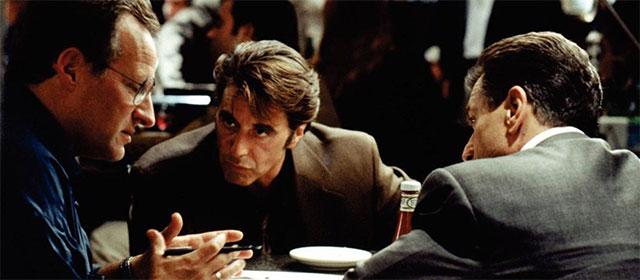 Michael Mann, Al Pacino et Robert de Niro sur le tournage de Heat (1995)