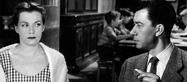 Vera Clouzot et Paul Meurisse dans Les Diaboliques (1955)
