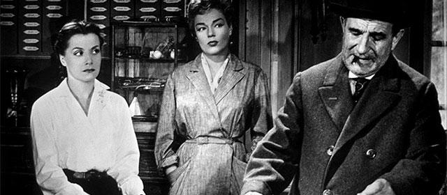 Vera Clouzot, Simone Signoret et Charles Vanel dans Les Diaboliques (1955)