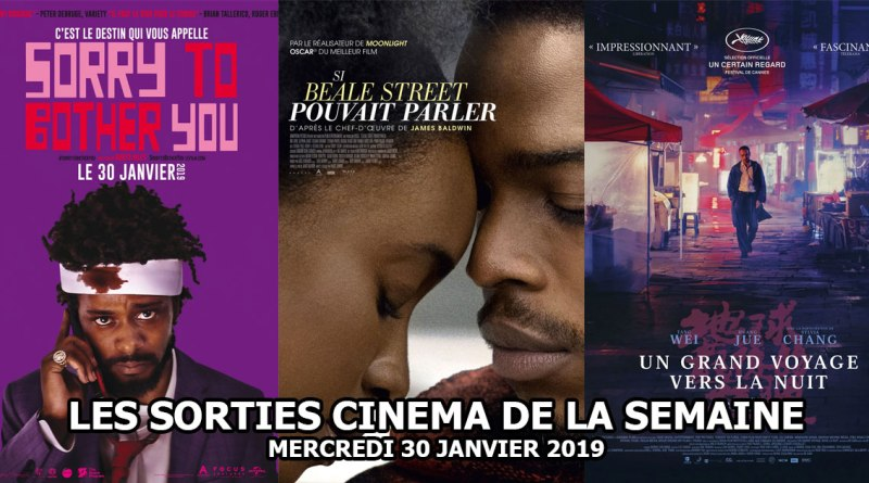 Les sorties cinéma de la semaine - mercredi 30 janvier 2019