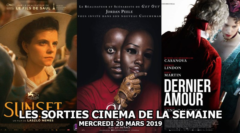 Les sorties cinéma de la semaine - mercredi 20 mars 2019