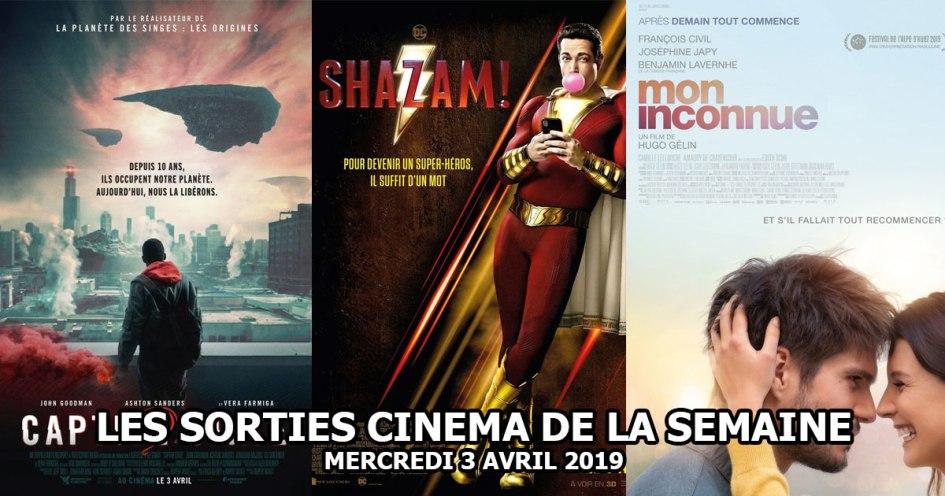 Les sorties cinéma de la semaine - mercredi 3 avril 2019