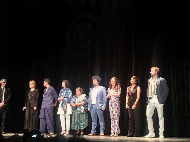 L'équipe de Nuestras Madres à la Semaine de la Critique (sans la présence du réalisateur César Díaz, absent pour une journée organisée pour les candidats à la Caméra d'Or)