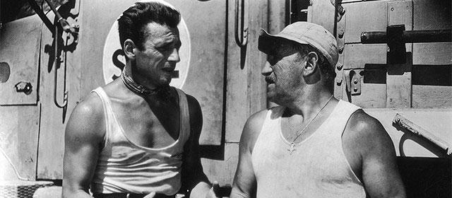 Yves Montand et Charles Vanel dans Le Salaire de la peur (1953)