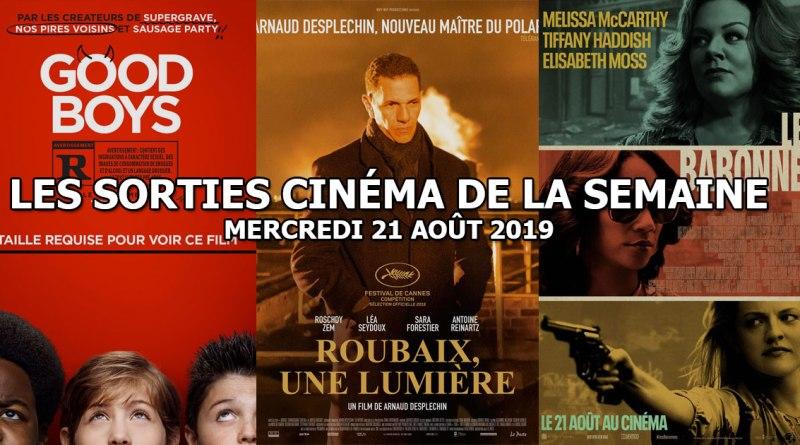 Les sorties cinéma de la semaine - mercredi 21 août 2019