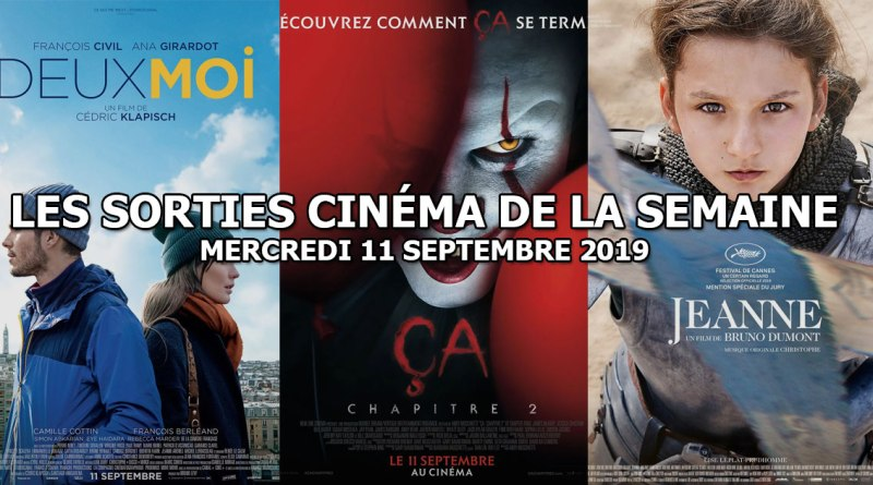 Les sorties cinéma de la semaine - mercredi 11 septembre 2019