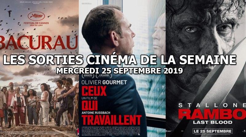 Les sorties cinéma de la semaine - mercredi 25 septembre 2019