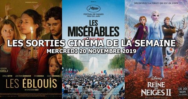 Les sorties cinéma de la semaine - mercredi 20 novembre 2019