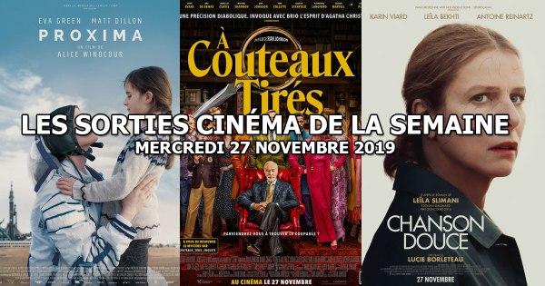 Les sorties cinéma de la semaine - mercredi 27 novembre 2019