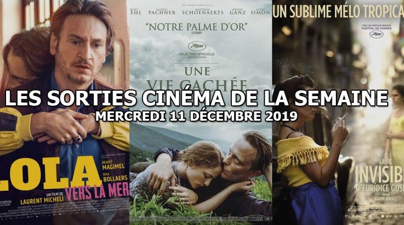 Les sorties cinéma de la semaine - mercredi 11 décembre 2019
