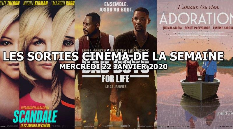 Les sorties cinéma de la semaine - mercredi 22 janvier 2020