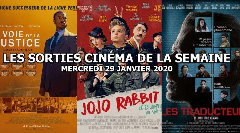 Les sorties cinéma de la semaine - mercredi 29 janvier 2020