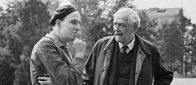 Ingmar Bergman et Victor Sjöström