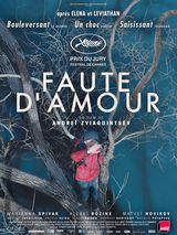 Affiche de Faute d'amour (2017)