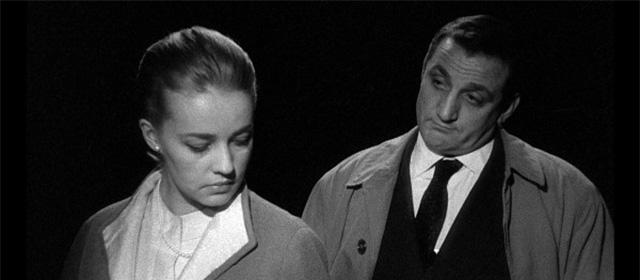 Jeanne Moreau et Lino Ventura dans Ascenseur pour l'échafaud (1958)