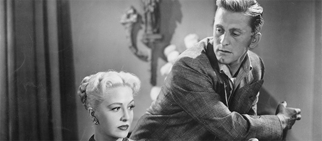 Marilyn Maxwell et Kirk Douglas dans Le Champion (1949)