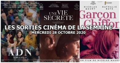 Les sorties cinéma de la semaine - mercredi 28 octobre 2020