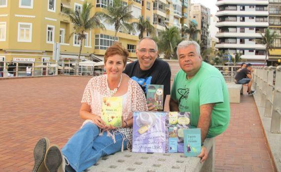 Sandra Franco Álvarez (izquierda), Daniel Martín Castellano (centro), Juan Carlos Saavedra (derecha).
