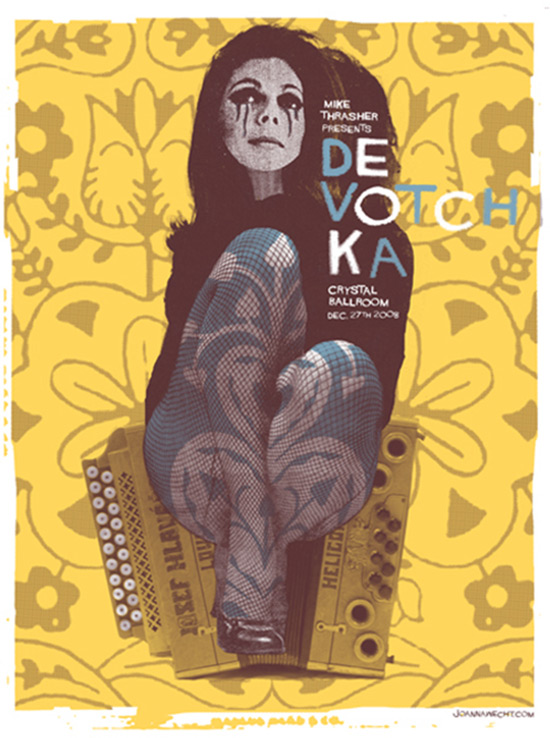 Joanna Wecht: DeVotchKa concert poster