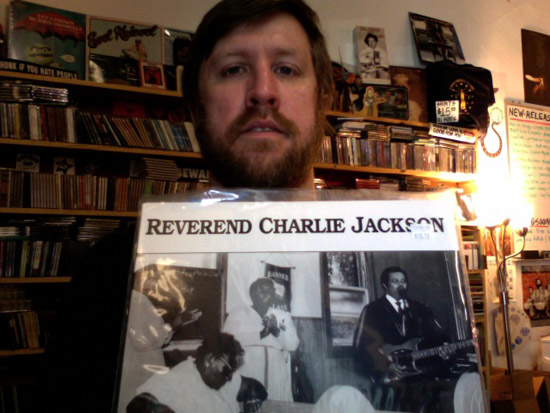 James Paasche holds Reverend Charlie Jackson's God's Got It