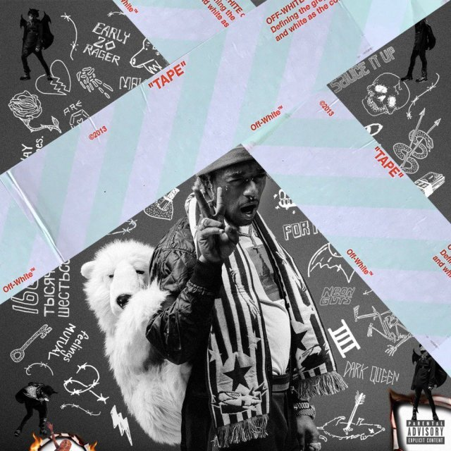 "Album art for Lil Uzi Vert's debut album, ""Luv is Rage 2"""