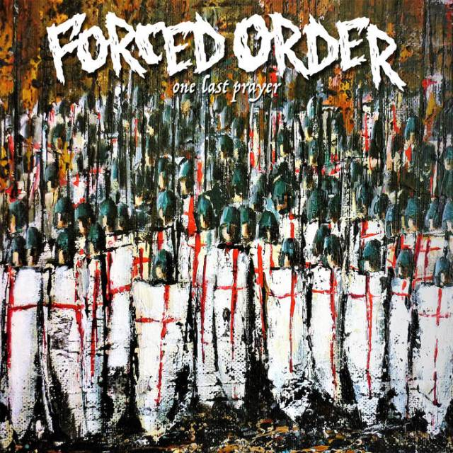 "The album art for Forced Order's ""One Last Prayer"" depicts a crowd of crusaders close together with Saint George's Cross across their shields"