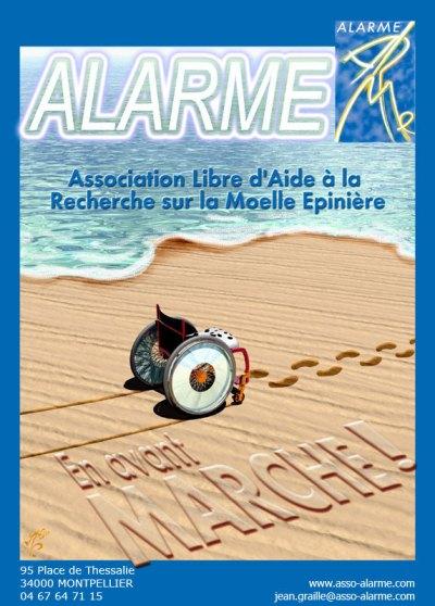 affiche association libre d'aide a la recherche sur la moelle epiniere