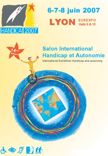 affiche salon handica lyon 2007
