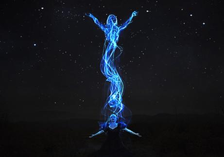 Imagen de la energía de la conciencia de algún dios
